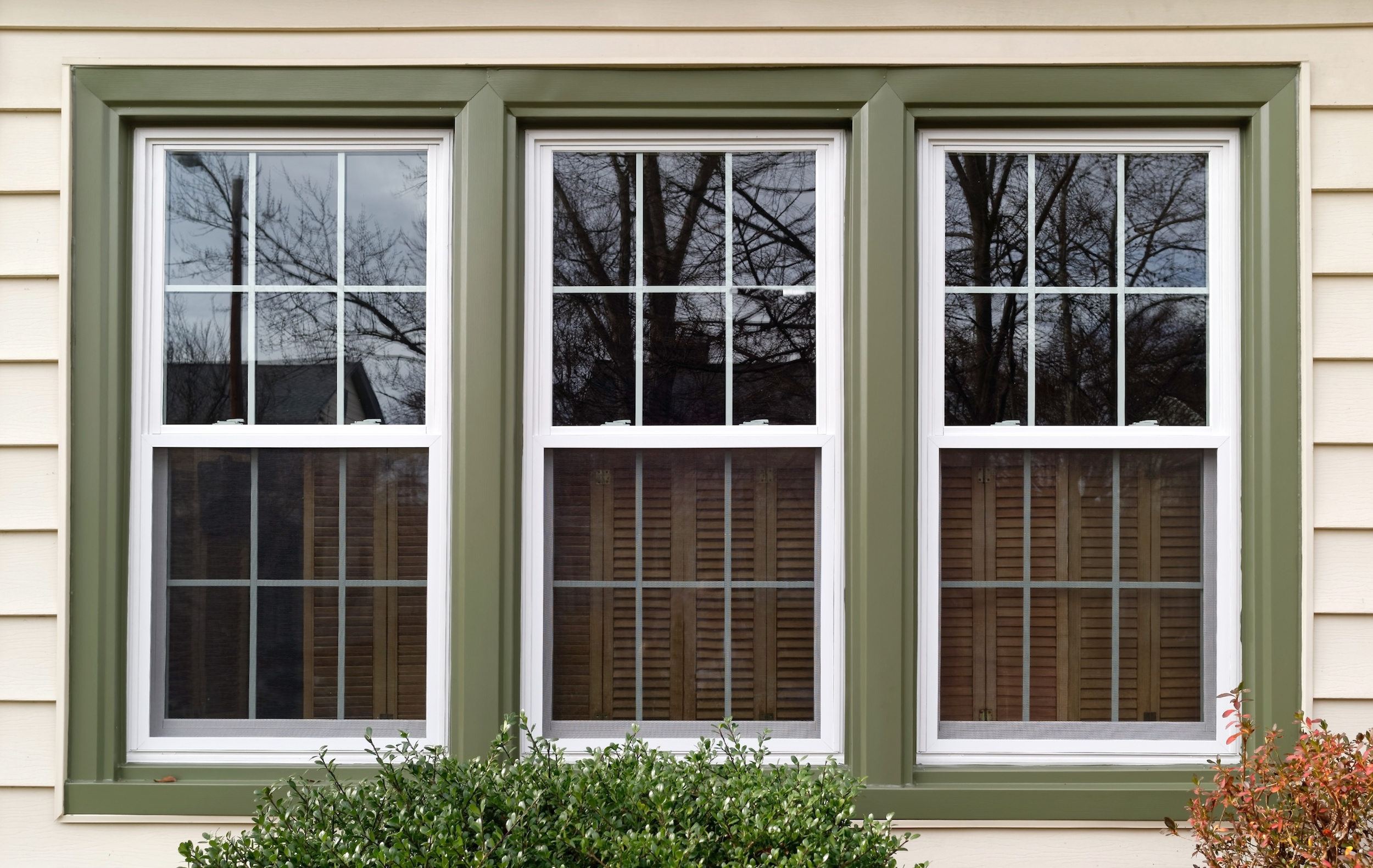 Three vinyl replacement windows | Window Makeover